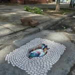 Jim Bachor, pothole mosaic, NYC potholes, Vermin of New York