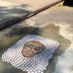 Jim Bachor, pothole mosaic, NYC potholes, Vermin of New York