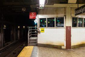 subway station platform do not enter