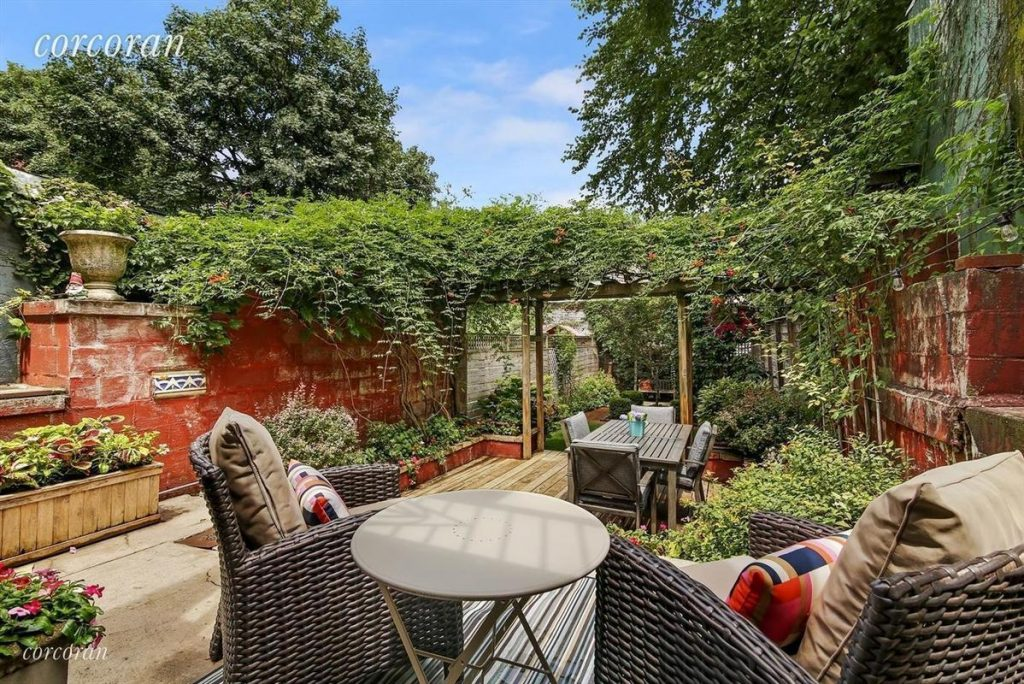 Backyard Paradise: $2.1M Park Slope Townhouse Has A Backyard Paradise And