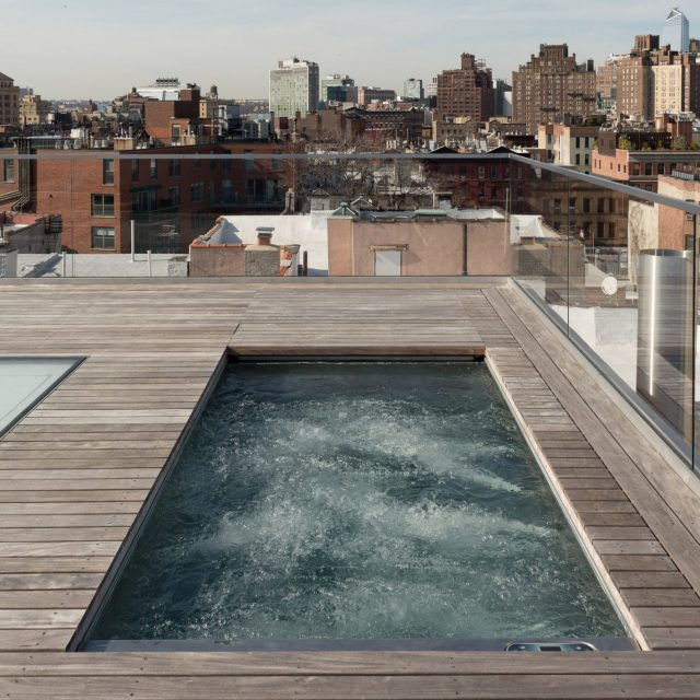TBD Design Studio gave this West Village penthouse a complete overhaul–and a private rooftop pool