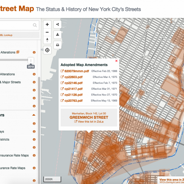 Interactive map displays changes in New York City's street grid over the last 90 years