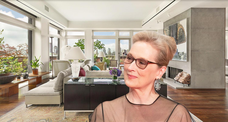 meryl streep lists serene tribeca penthouse for 25m 6sqft. Black Bedroom Furniture Sets. Home Design Ideas