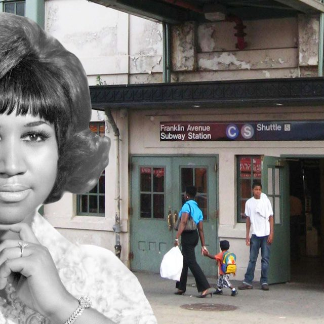 Music fan behind 'Aretha' signs at Franklin Ave subway aims for permanent tribute mural