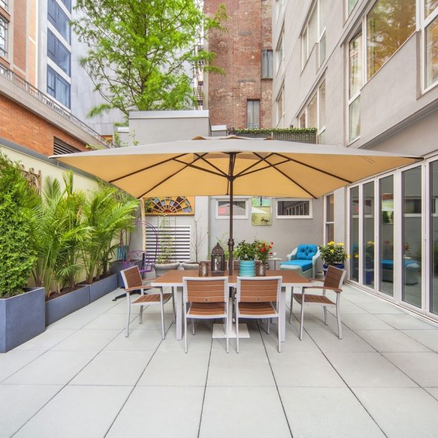For $2.5M, a West Soho condo with a peaceful garden sanctuary