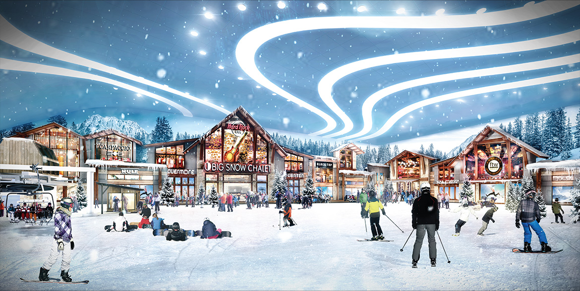 See The 800 Foot Indoor Ski Slope Water Park And