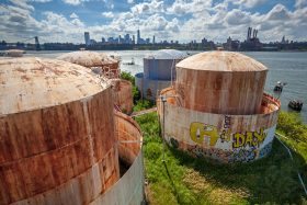 Maker Park, THE TANKS at Bushwick Inlet Park, Bayside Oil Depot, Williamsburg waterfront, fuel tanks, Karen Zabarsky, Stacey Anderson