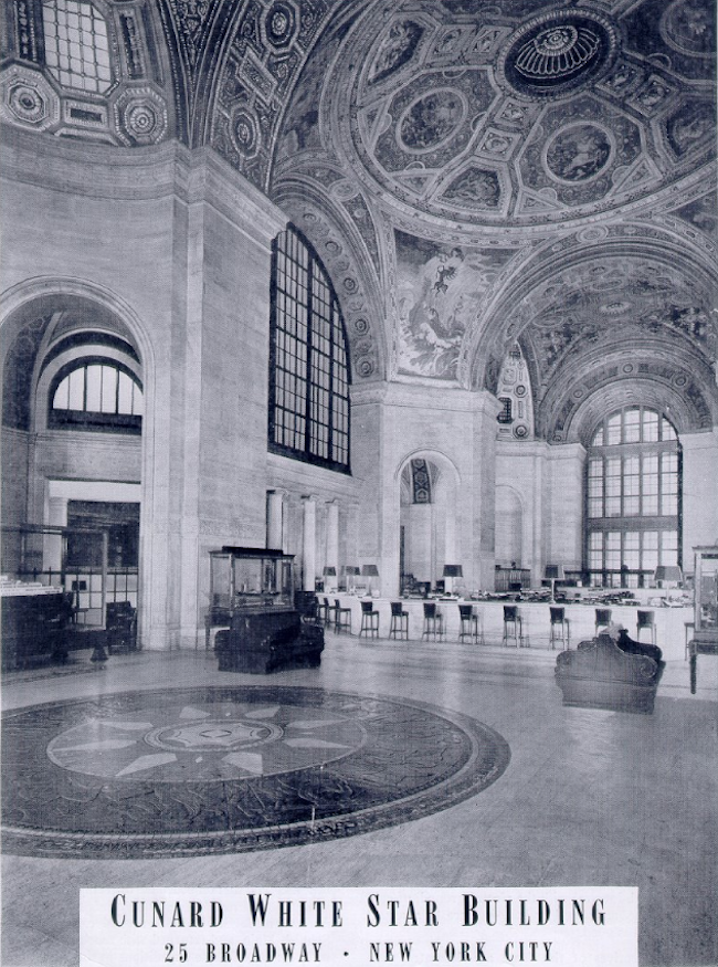 cunard building, cunard ticketing hall, cunard building history