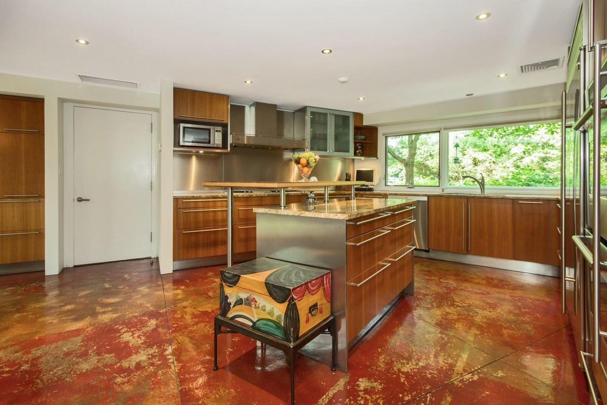 This $3M mid-century estate in Armonk, NY is like a private park ...