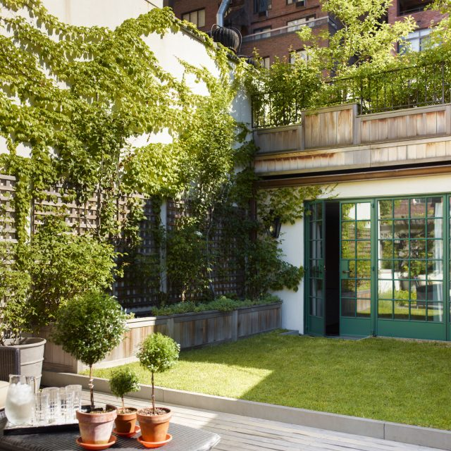 An UES townhouse is transformed in the Arts and Crafts style, with a self-pollinating rooftop garden