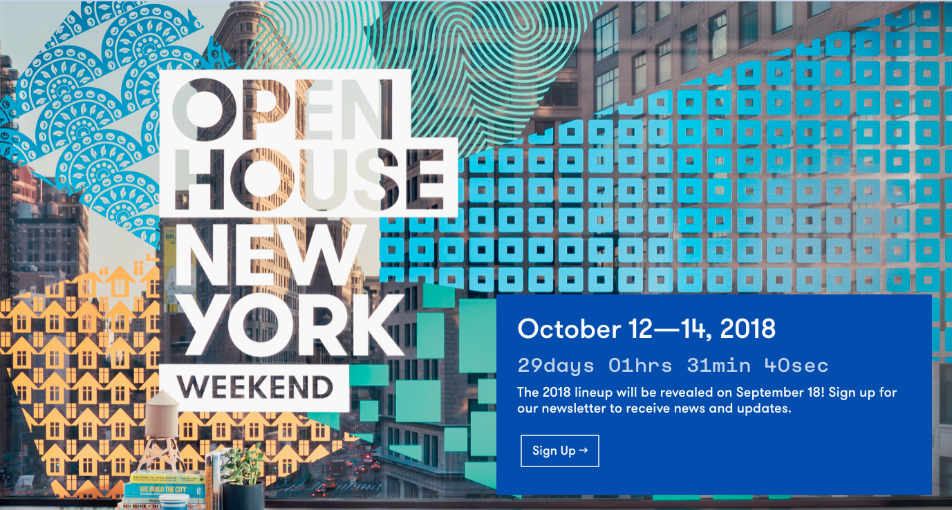 open house new york 2018, OHNY 2018