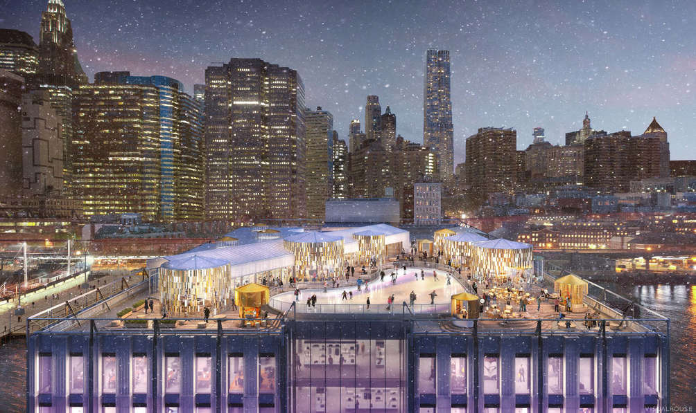 See the plan to transform the South Street Seaport's Pier 17 into a rooftop winter village