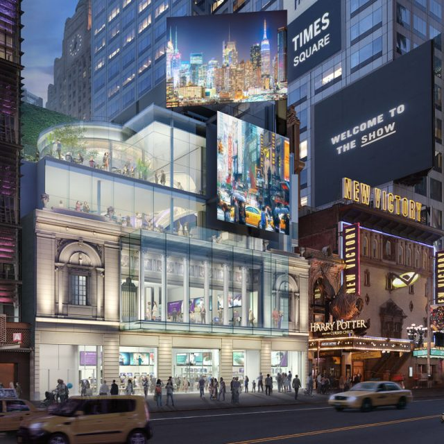 Times Square Theater to get a $100M makeover; developer hopes for Apple, Amazon, or Coke