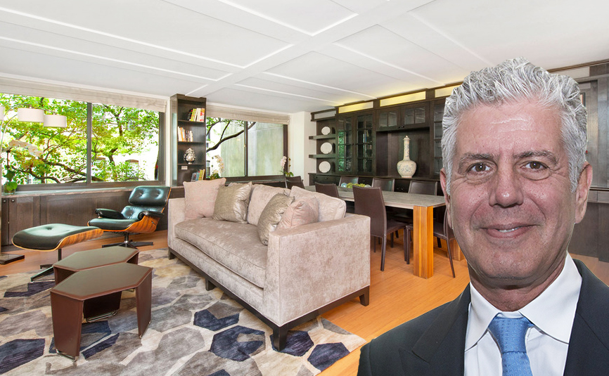 Anthony Bourdain's Upper East Side apartment is asking $3.7M