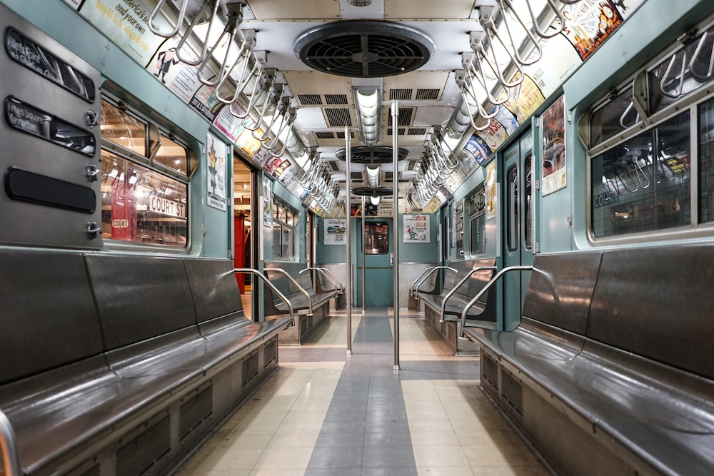 new york transit museum, subway car