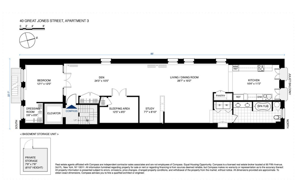 40 great jones street, condo, floorplan