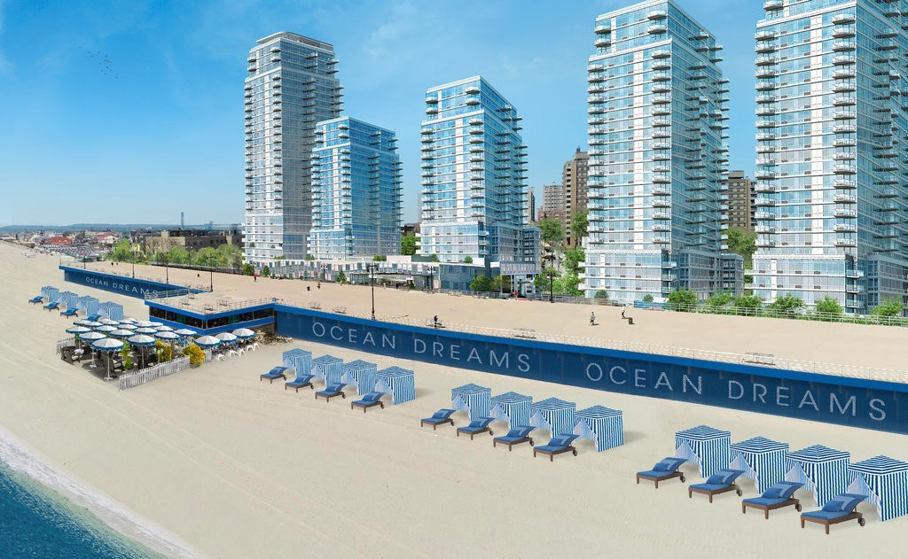 Coney Island's 'Miami-inspired' Ocean Dreams rental project tops out