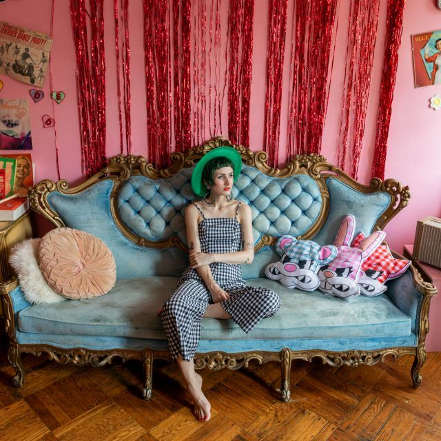 My 730sqft: It's a retro pink party at fashion designer Stella Rose's Bushwick pad