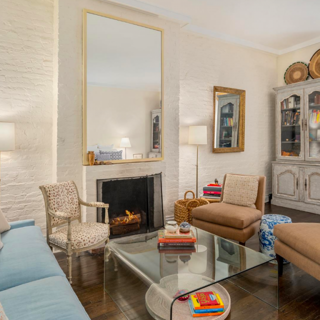 Asking $1.35M, this chic Village floor-through with a private garden is two studios waiting to merge