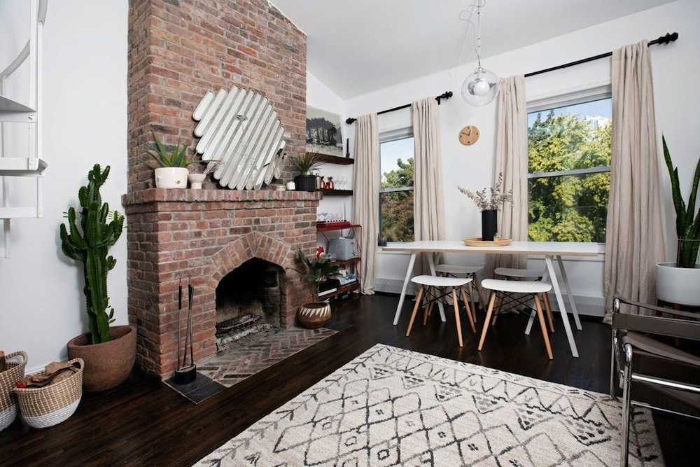 Outstanding A Big Brick Fireplace Warms Up This 900K Boerum Hill Interior Design Ideas Inesswwsoteloinfo