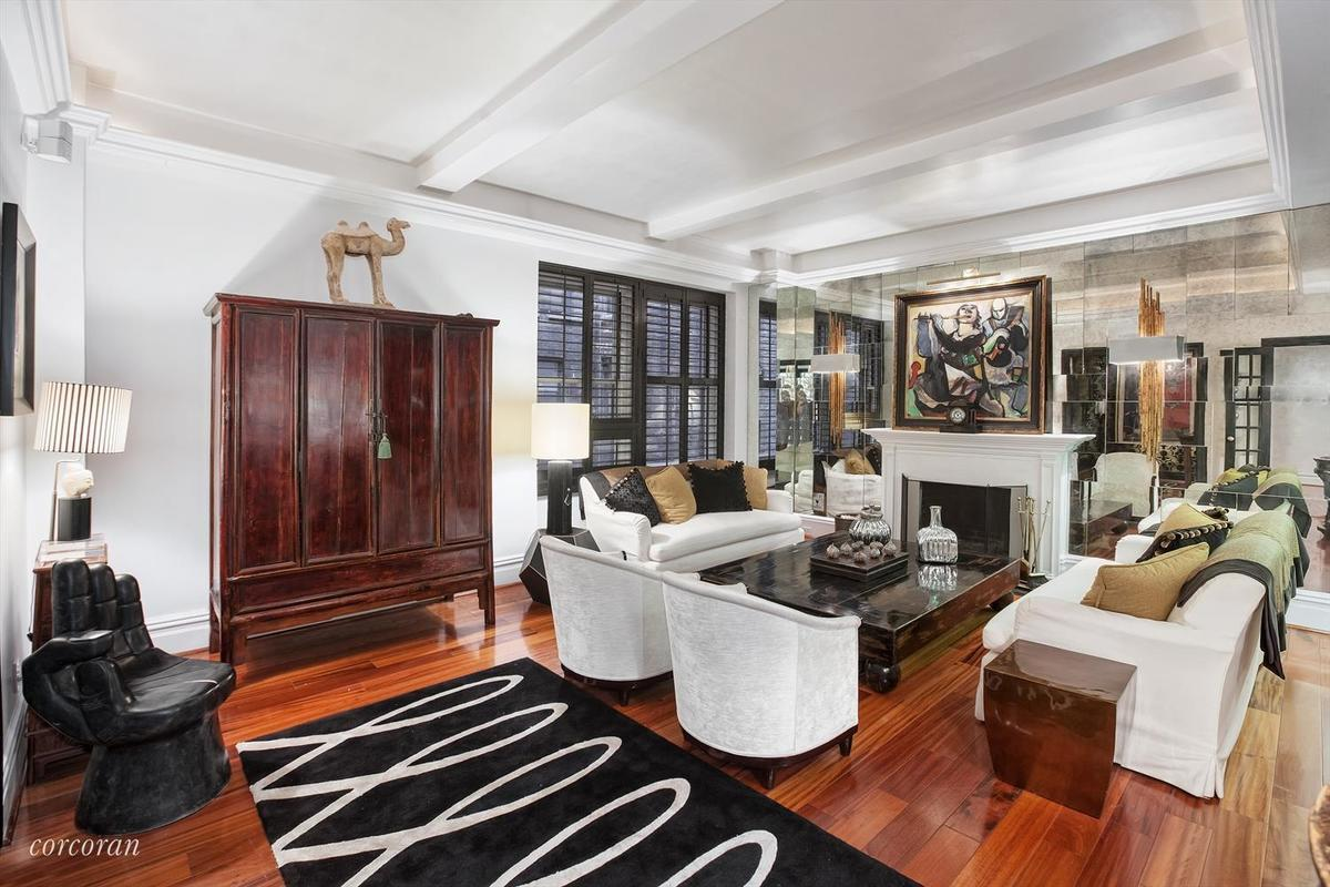 Theres plenty of room for storage along with the apartments two baths in the foyer youll find a large coat closet just beyond this elegant entry is a