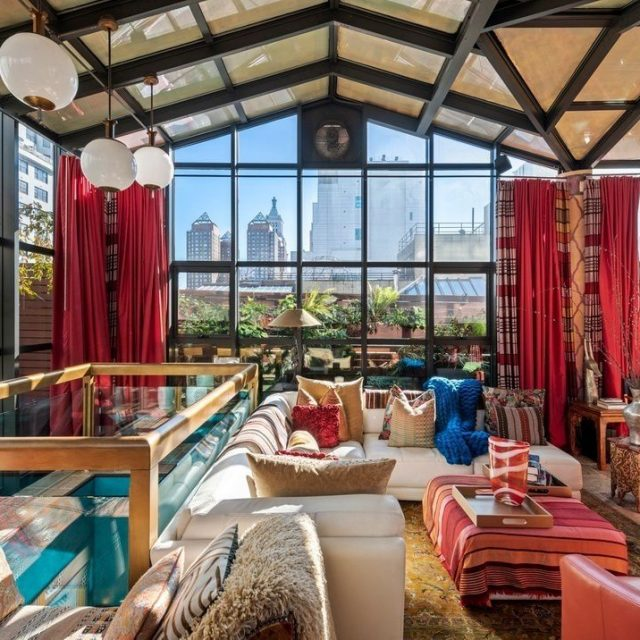 Enjoy a Moroccan-style den under a glass rooftop at this $7M Union Square penthouse
