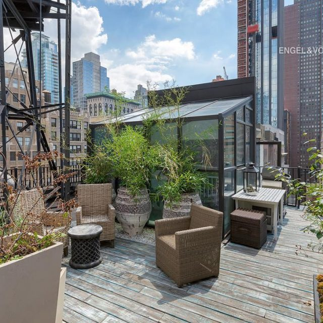 $3.2M Nomad co-op atop the historic Gilsey House has a mini solarium and a rooftop oasis