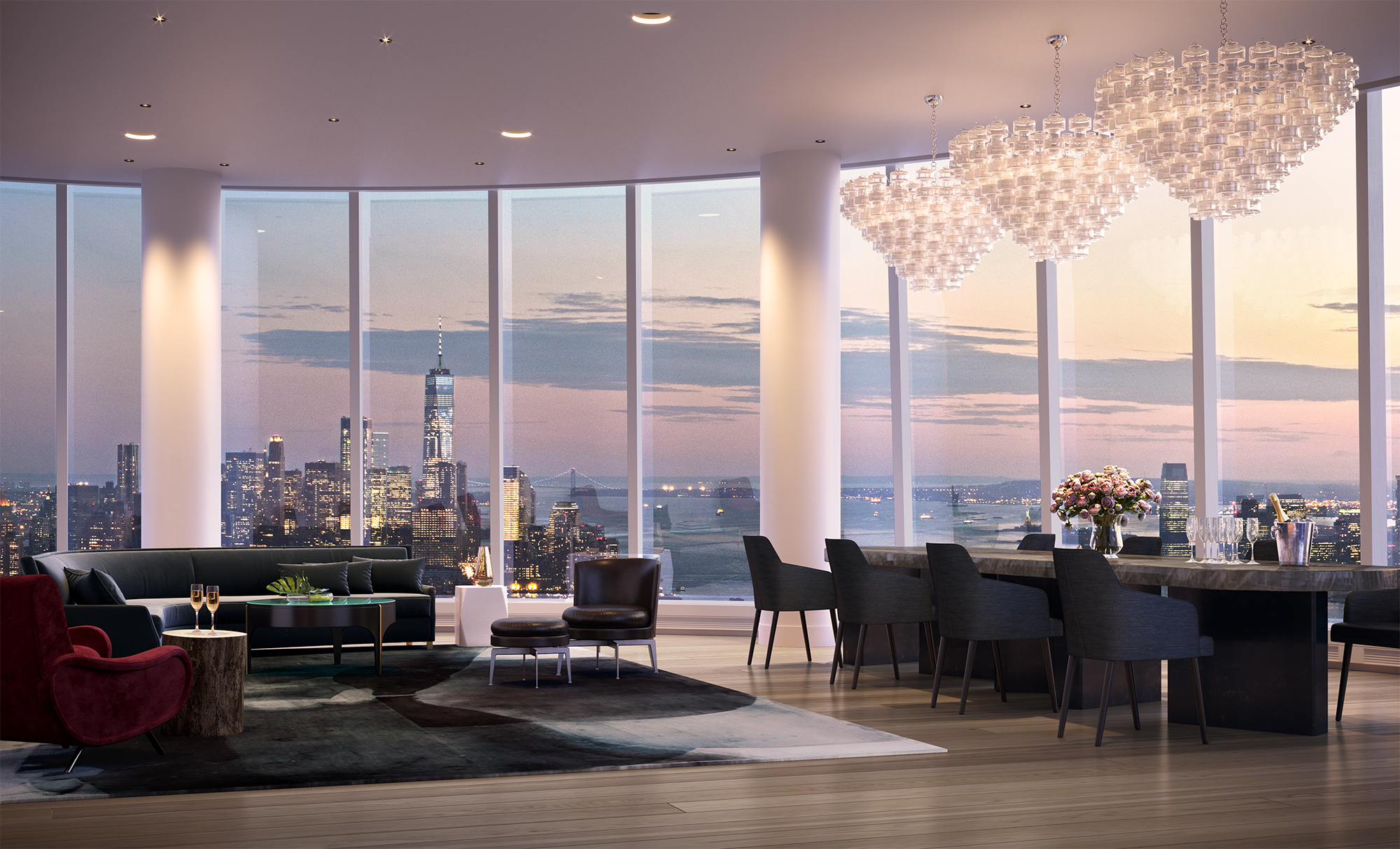 Nyc S Highest Residential Outdoor Space Revealed At Hudson
