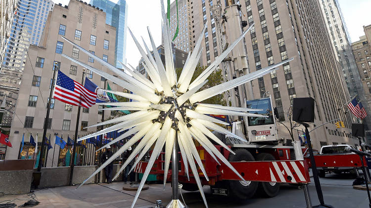 Daniel Libeskind's 900-pound star brings the bling to this year's Rockefeller Center Christmas Tree