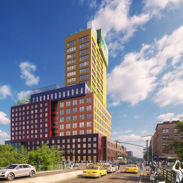 MVRDV's vibrant 'vertical village' hotel breaks ground in Washington Heights