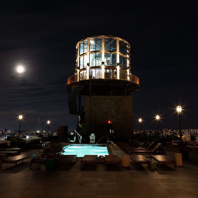New Williamsburg rooftop hotel bar looks like a water tower you can party inside