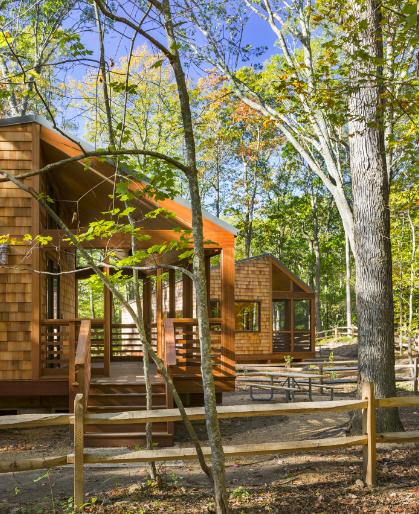 Reclaimed Wood Flooring Long Island Ny: New Long Island Camping Cabins Bring Modern, High-quality