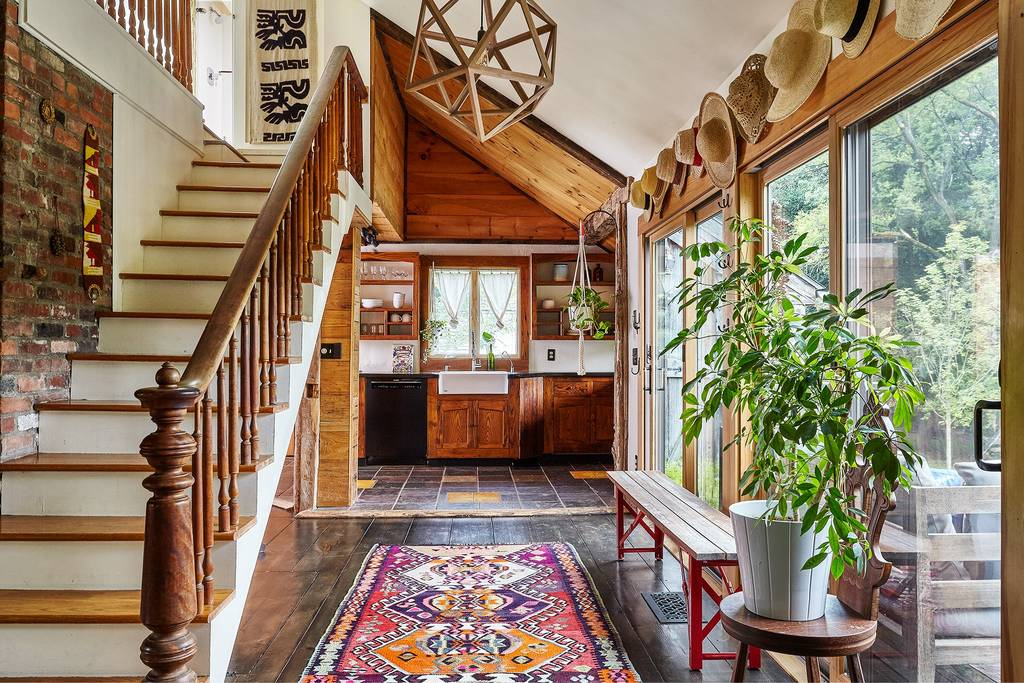 Spend A Winter Weekend In This Boho Chic Hudson Valley Cabin