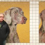 23rd Street subway station, William Wegman, Weimaraner dogs, MTA Arts for Transit, NYC subway art, subway mosaics