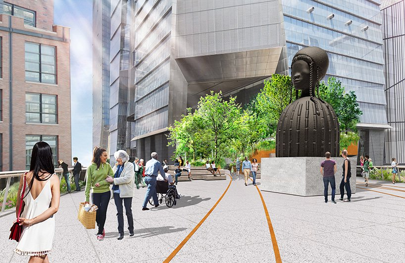 The High Line Plinth will showcase public art as a gathering spot in the park's newest section