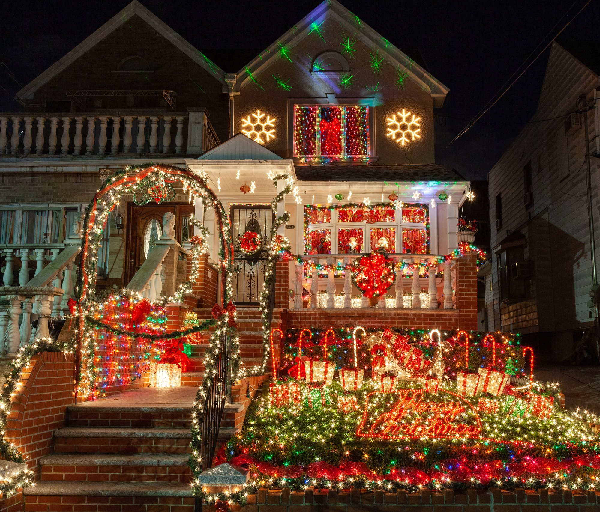Christmas House.See This Year S Completely Outrageous Dyker Heights
