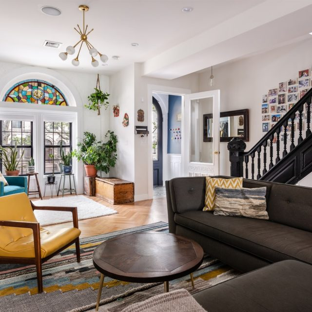 This $5.2K/month furnished Stuyvesant Heights townhouse is a mix of sophistication and charm