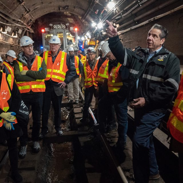 Cuomo tours damaged L train tunnel four months before shutdown