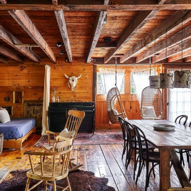 This charming upstate barn has enough warmth for a winter weekend at $255 a night