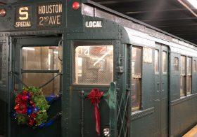 holiday nostalgia rides, ny transit museum, vintage subway