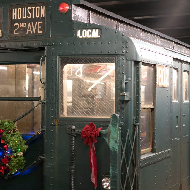 Ride back in time on vintage NYC trains and buses this holiday season