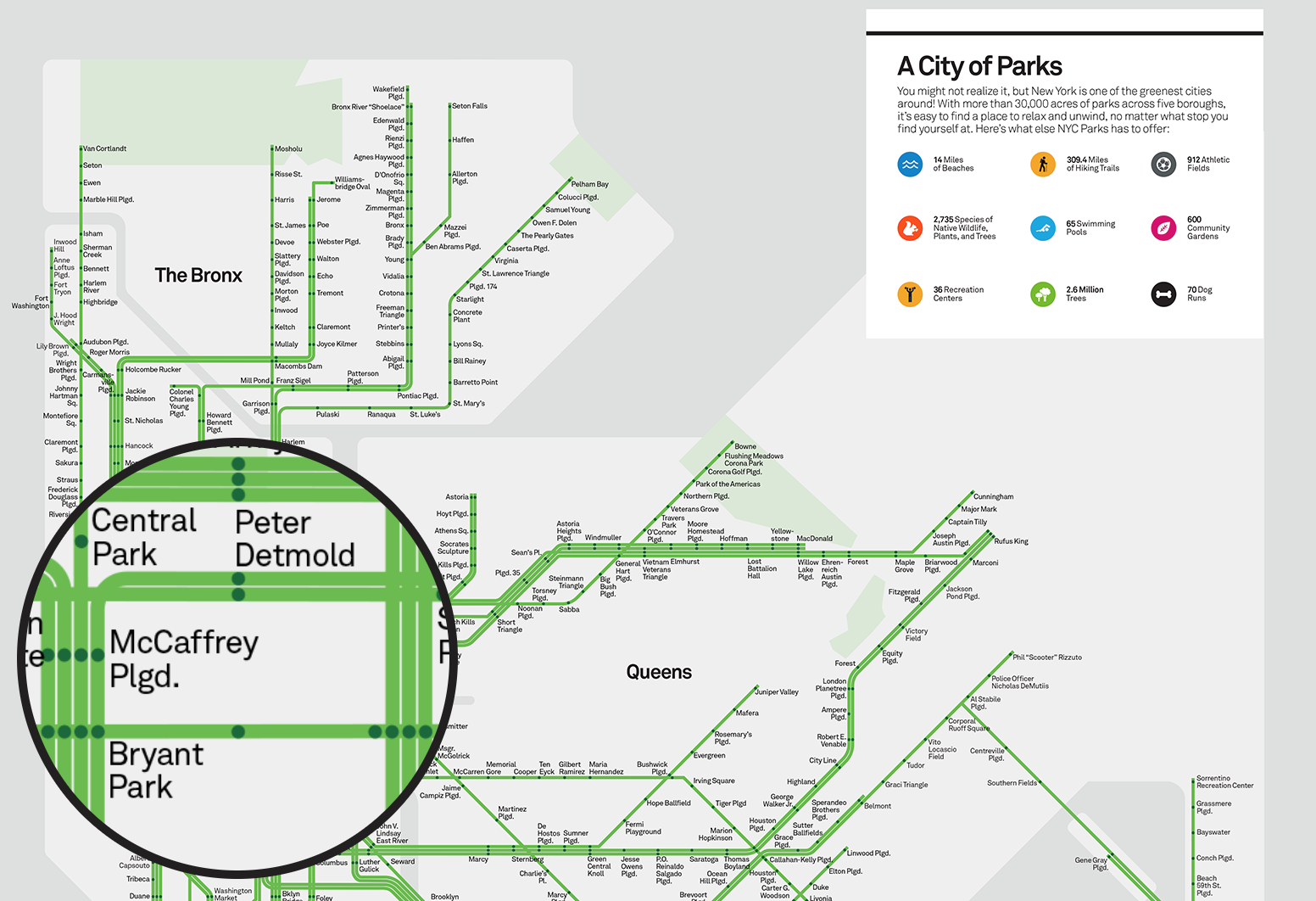 Purchase Nyc Subway Map.This Subway Style Map Plots Nyc Parks 6sqft