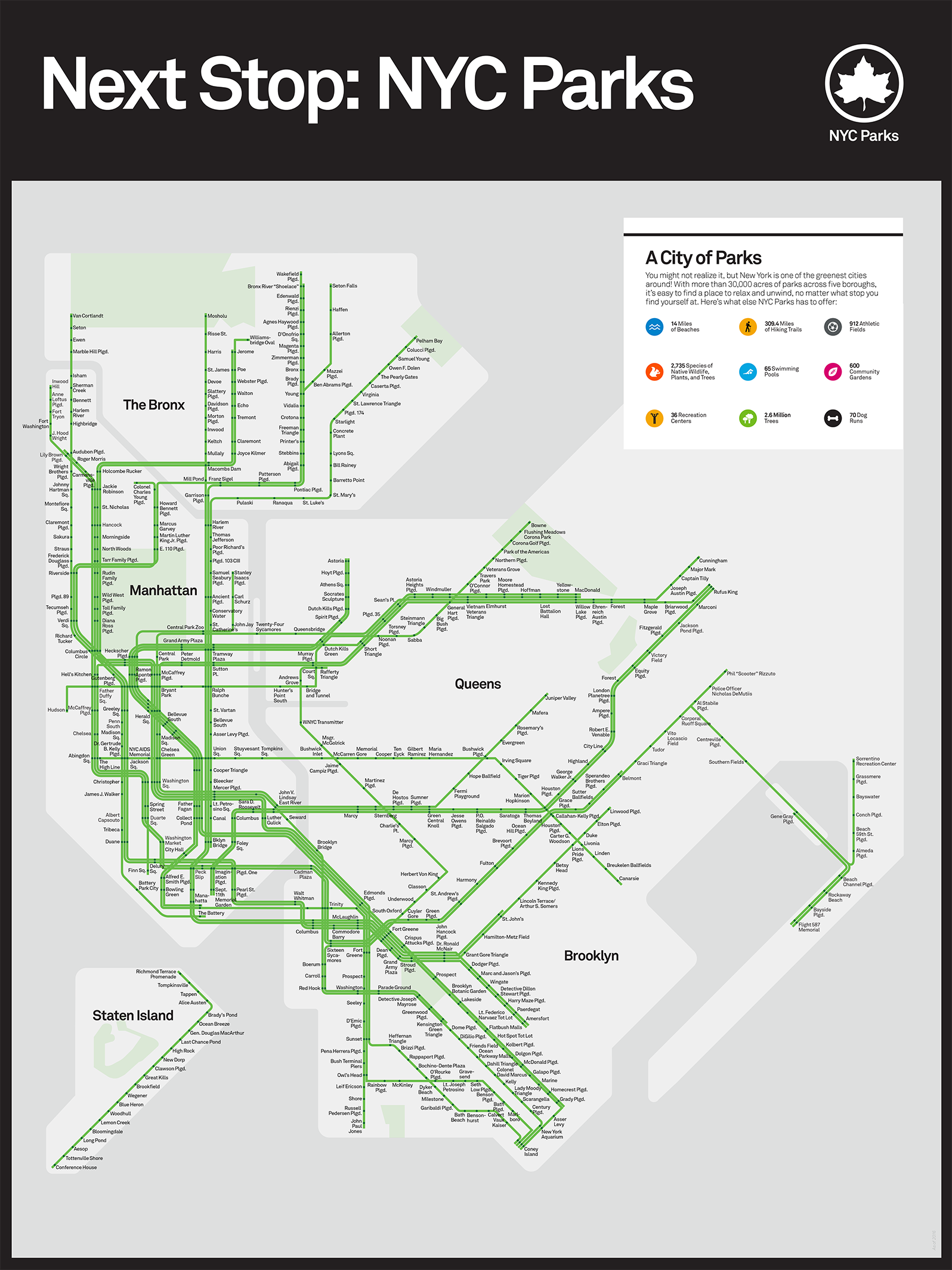 Subway Map Holiday.This Subway Style Map Plots Nyc Parks 6sqft