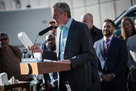 nyc styrofoam ban, mayor bill deblasio, foam ban, 2019 laws