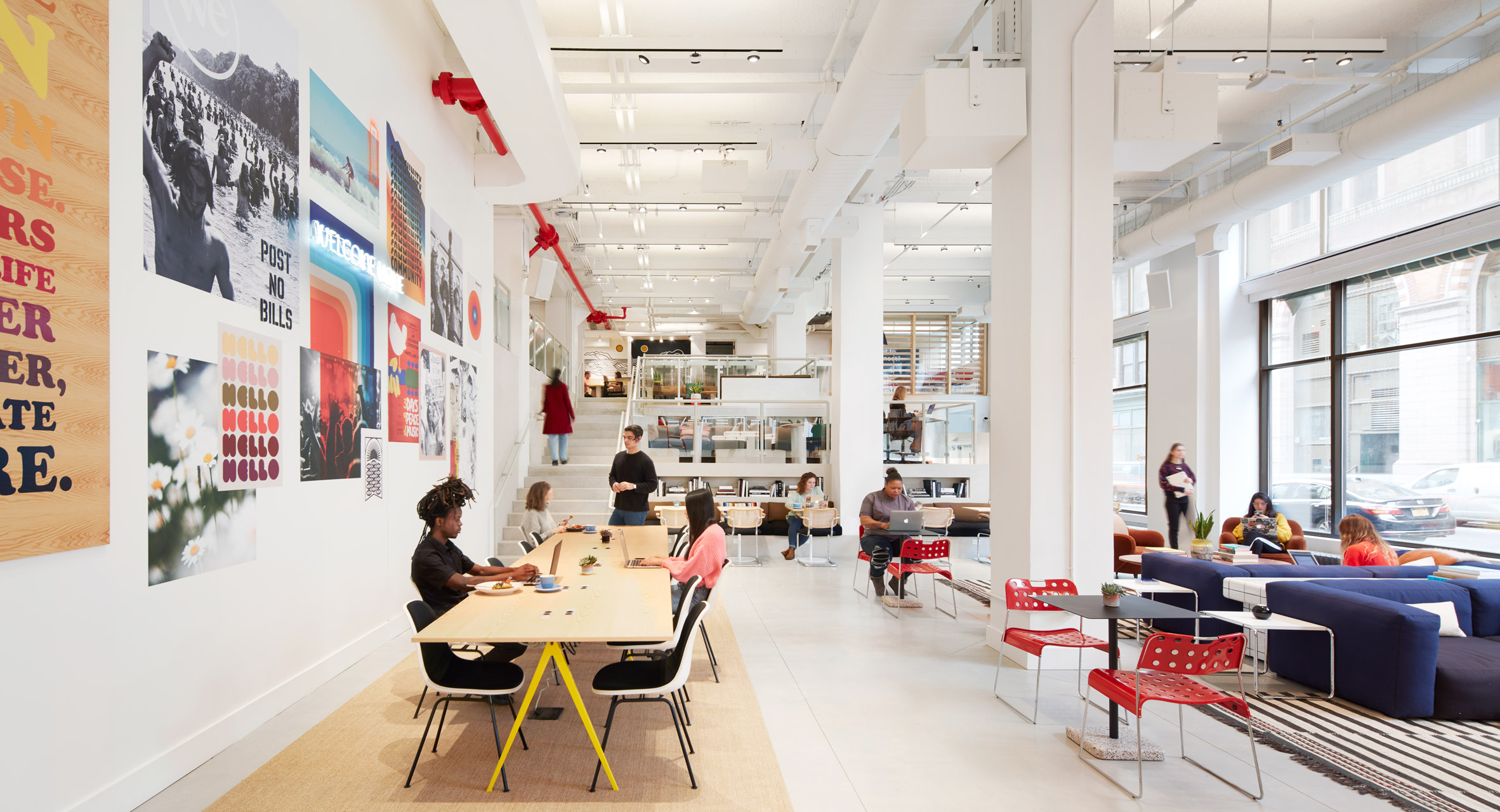 Rebranded WeWork opens an on-demand workspace and cafe in