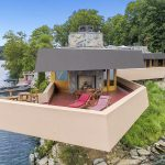 1 petre island, frank lloyed wright, upstate, cool listings, private islands