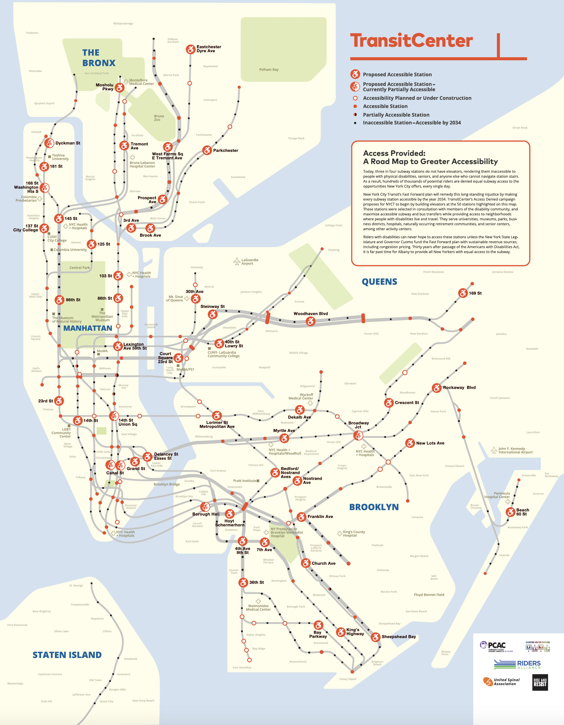Subway Map 137 Hudson Street.Transitcenter Maps Out The Next 50 Subway Stations That Should Be