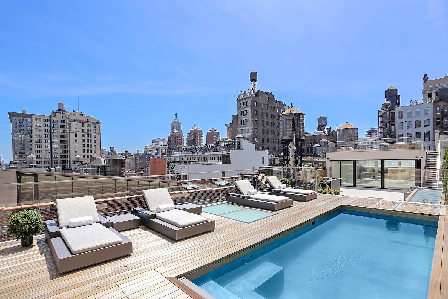 Flatiron Penthouse With Elaborate Roof Deck Swimming Pool And
