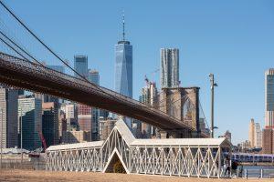 Siah Armajani, Bridge Over Tree, public art, brooklyn bridge park