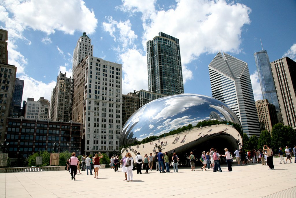 anish kapoor, cloud gate, chicago